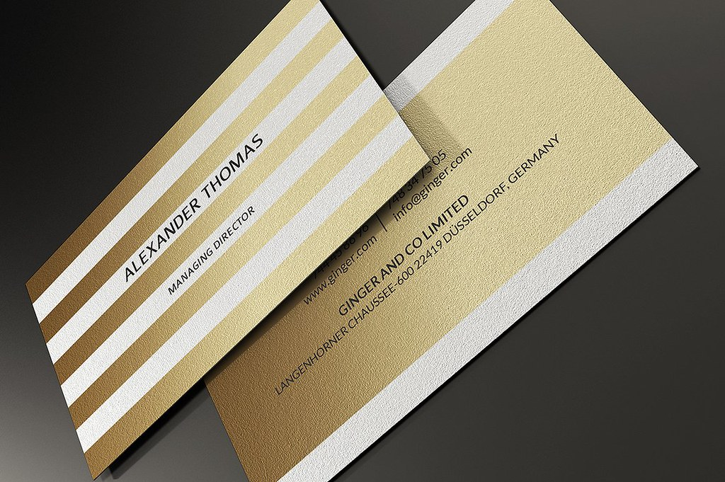 Gold and white business card template download the templat flickr gold and white business card template by marvel medias reheart Image collections