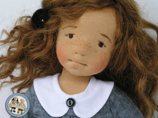 Helena - natural fiber art doll