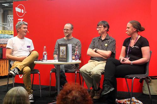 Johan Unenge, Joakim Gunnarsson, Stefan Diös och Anna  Bergström.