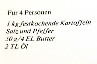 Original Schweizer Rösti - Zutaten