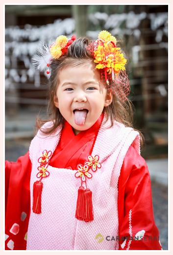 七五三写真前撮り 気比(けひ)神宮 福井県敦賀市 ロケーション撮影 出張撮影 姉妹で七五三 着物 和装 おしゃれ 自然な 人気 オススメ