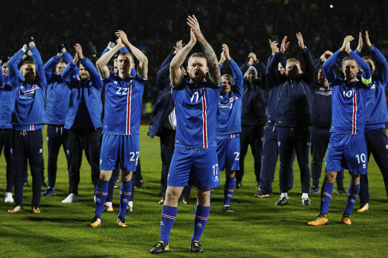 冰島首闖世界盃會內賽。(達志影像)