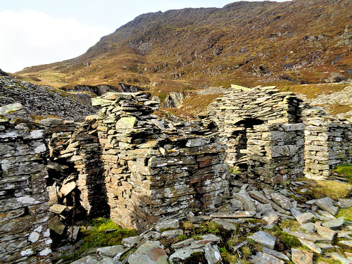 Ruined building at the slate quarry