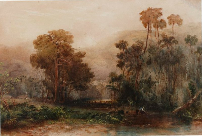 Conrad Martens painting of the Illawarra