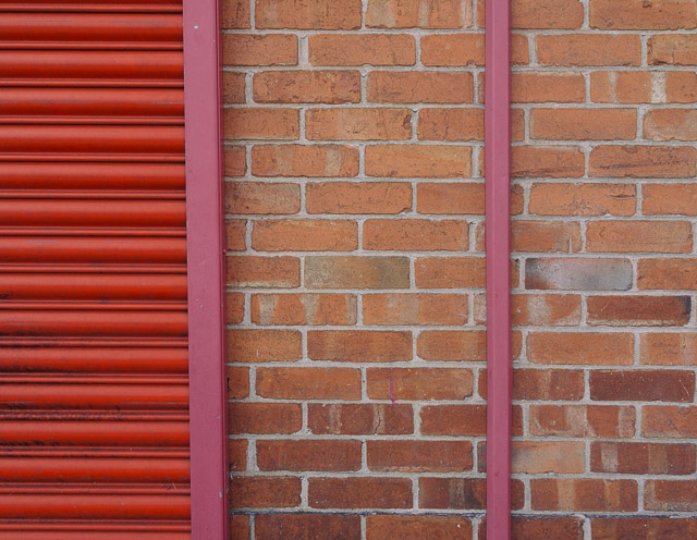 red and pink shutter