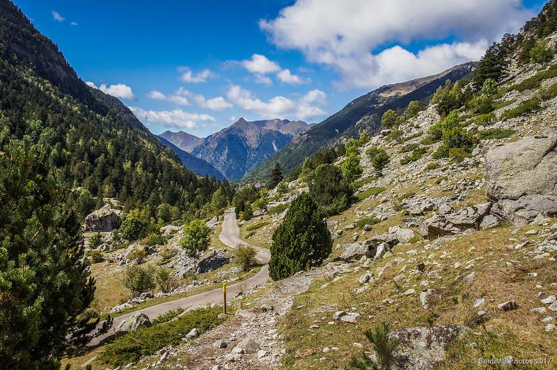 El Valle de Sant Nicolau desde cerca del Planell d'Aigüestortes