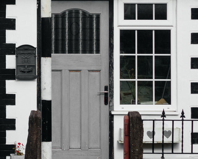 grey door in whitchurch
