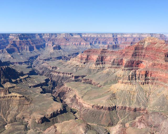Vistas del Gran Cañón desde el aire