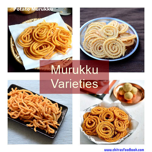 15 Murukku Recipes – Murukku Varieties - South Indian Murukku Recipe