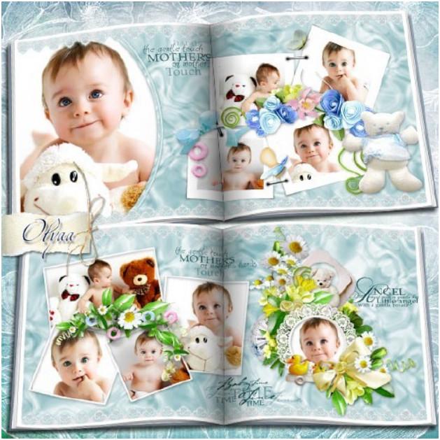 Детская фотокнига в PSD формате для мальчика