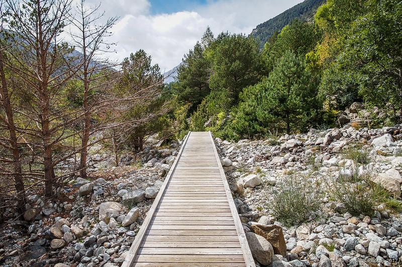 Cruzando el Barranc de Sarradé