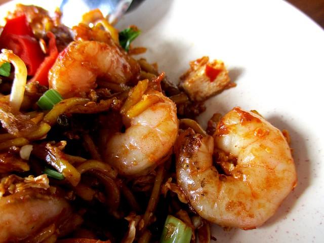 Warong Cafe mee mamak seafood, prawns