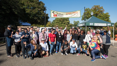 2017 vendors from USDA Farmers Market celebrating another successful season