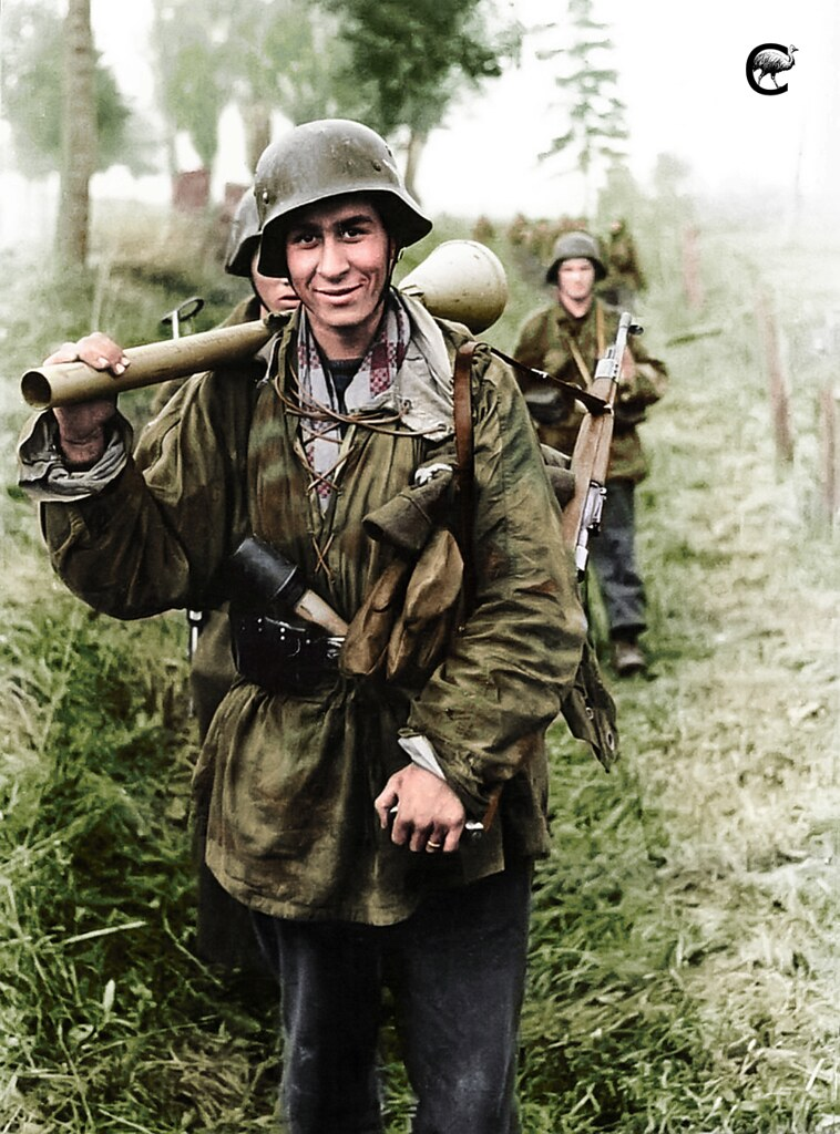 Soldier with a Panzerfaust from the Panzer Division Herman ...