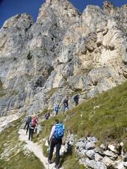 Der Aufstieg zum Col Dei Bos beginnt