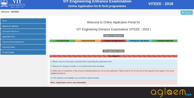 VITEEE Application Form 2018   VIT Application Last Date, Fee