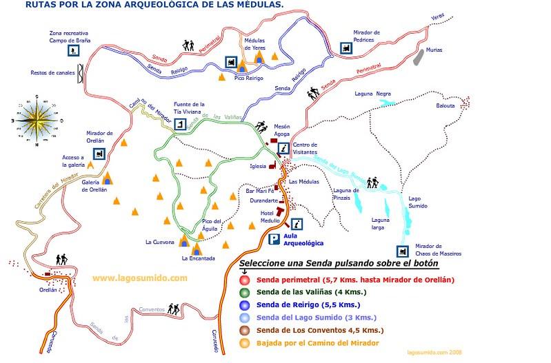 Resultado de imagen de mapa las medulas rutas