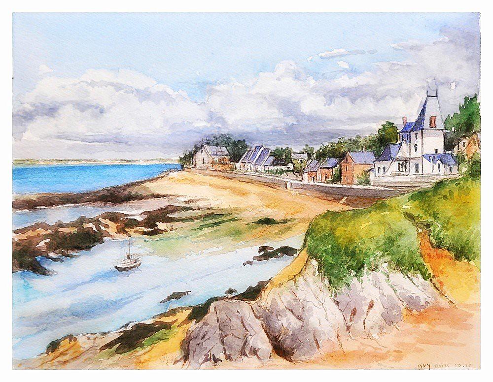Aquarelle Bretagne piriac sur mer - bretagne - france | aquarelle d'après photo… | flickr