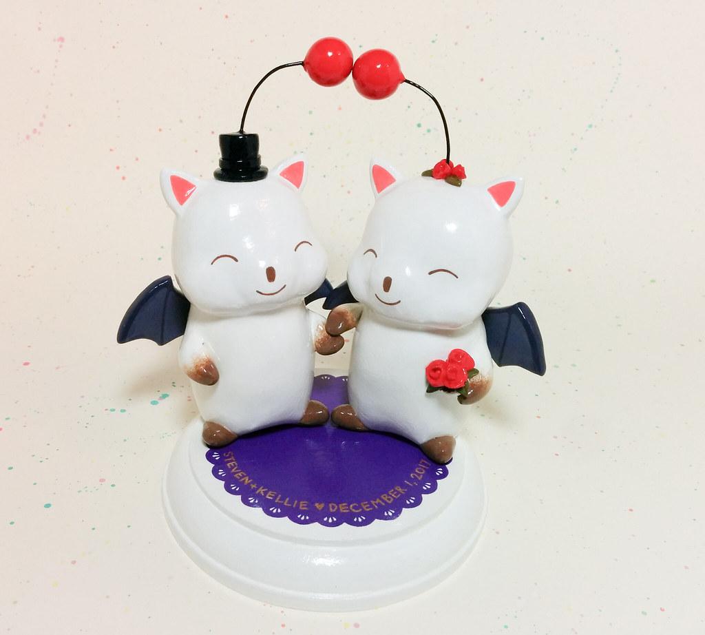 Custom Final Fantasy Moogle Cake Toppers By Magicbeaner