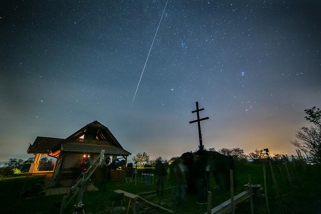 VCSE - Egy hosszú, horizont alattról induló LMI fényes meteor - Ágoston Zsolt felvétele