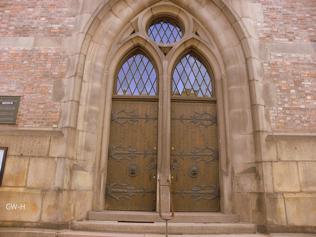... Oslo - Trinity Church doors \ Ask and it will be given & Norway Oslo - Trinity Church doors: \