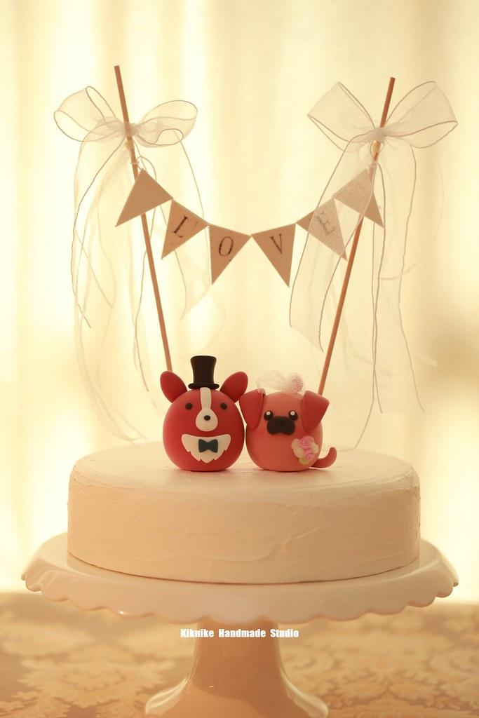 corgi and pug MochiEgg custom wedding cake topper, dogs ca…   Flickr