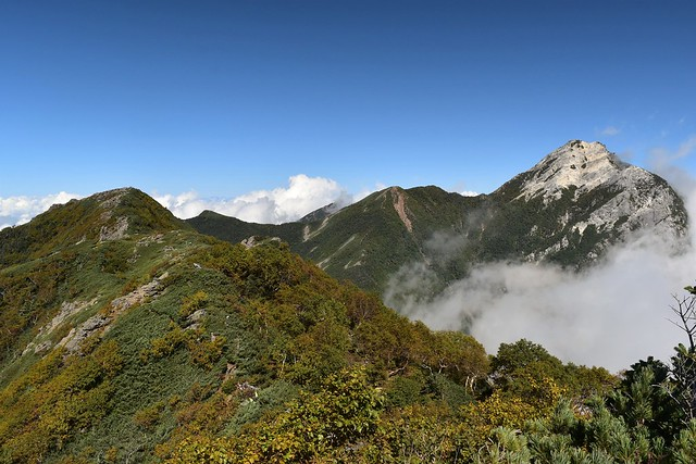 栗沢山と甲斐駒ヶ岳
