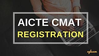CMAT Registration 2018 | AICTE CMAT 2018 Application Form