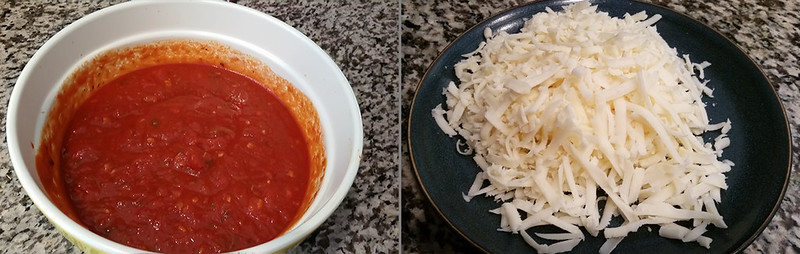 Cavey's Italian Sauce and Shredded Mozzarella