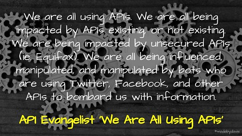 We Are All Using APIs @APIEvangelist | by mrkrndvs