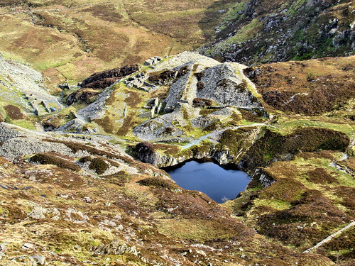 The old slate quarry from above