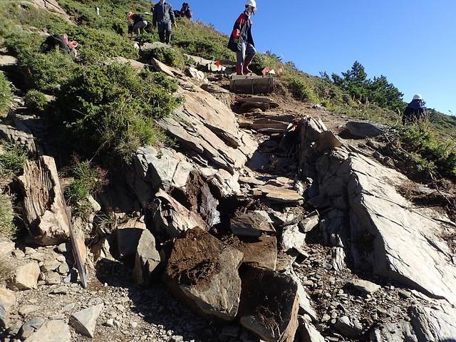 106年9月 合歡北峰步道的沖蝕溝問題。攝影:陳理德