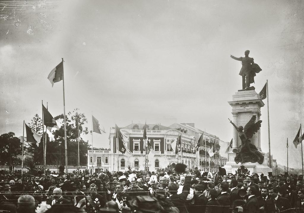 Inaguração do monumento ao Duque de Saldanha, Lisboa (P.Guedes, 1909)