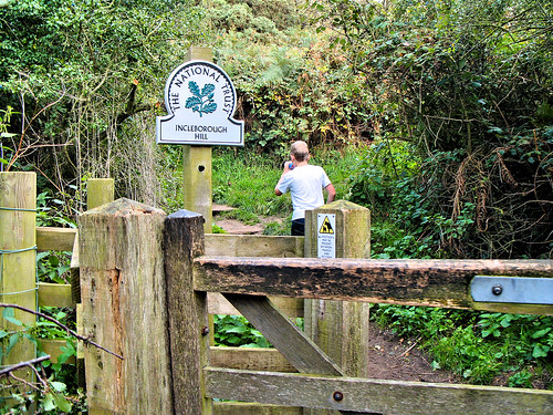 Entrance to Incleborough Hill