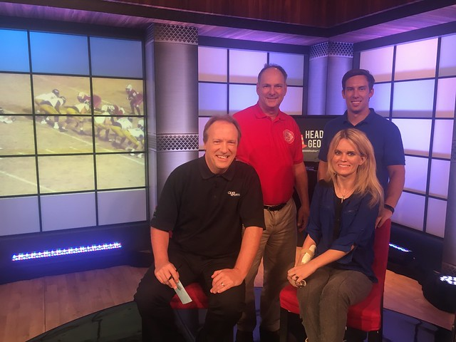 Molly Welch with the Georgia Public Broadcasting team for a broadcast interview