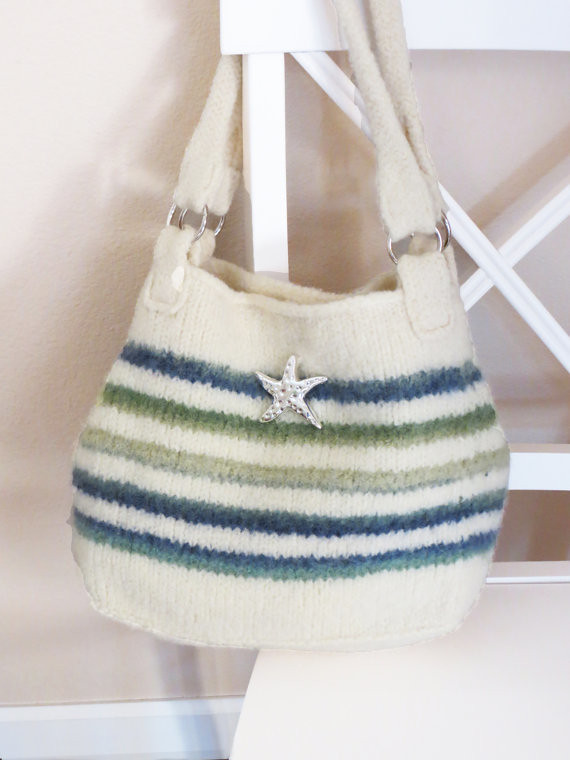 Knit Bag Pattern Felted Purse Iris Stripe Knitting Pat Flickr