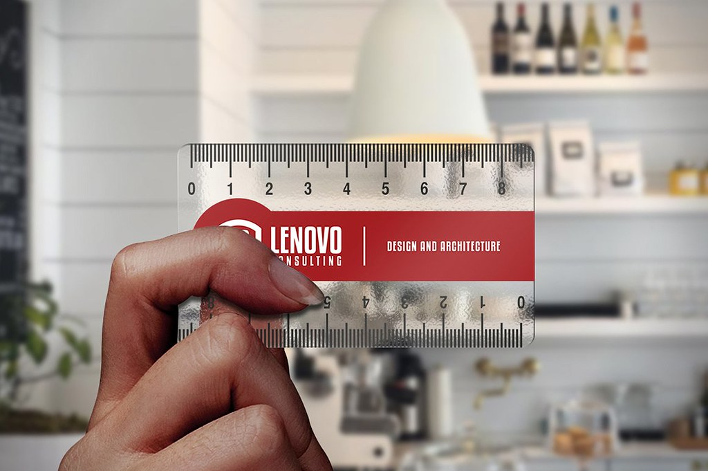 Ruler Transparent Business Card Template Download The Temp Flickr