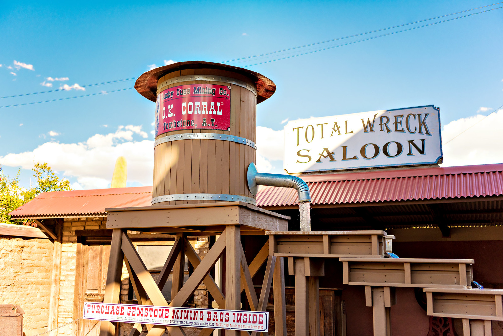 OK Corral with kids in Tombstone, AZ