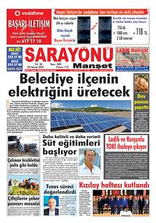 Sarayönü Manşet ve Konya Gazeteleri