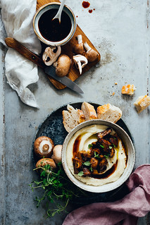 Root Celery Mash with Miso Mushrooms | Cashew Kitchen | by cashewkitchen