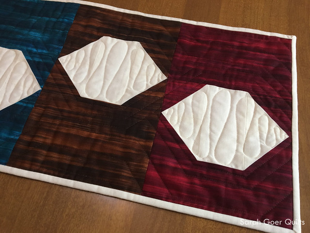 table runner quilt pattern Fall Fleurish