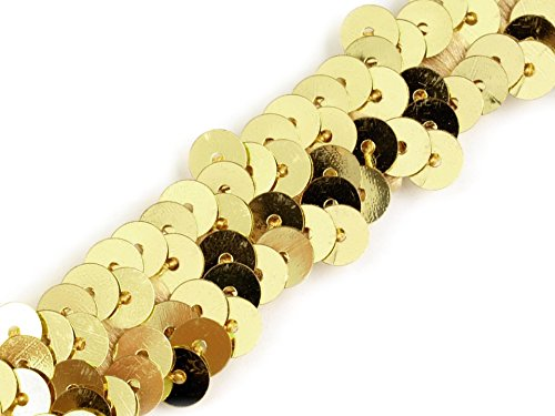 Paillettenborte 20mm, gold