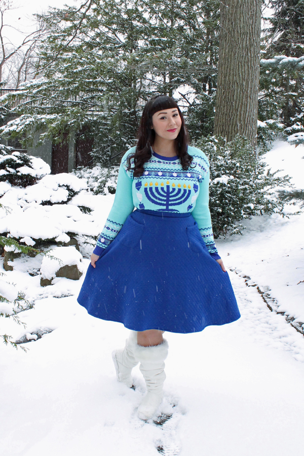 christmas chanukah sweater