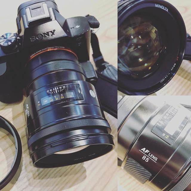 Minolta AF 85mm f1.4 初代目