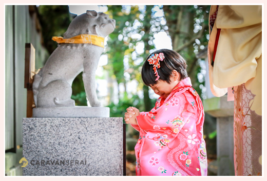 深川神社(愛知県瀬戸市)へ七五三参り ロケーション撮影 自然な姿