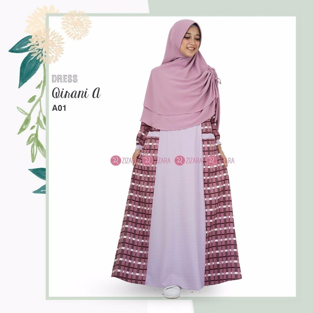 Gamis Zizara Qirani A01 Baju Muslim Wanita Baju Muslimah