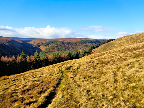 Looking back near Oyster Clough