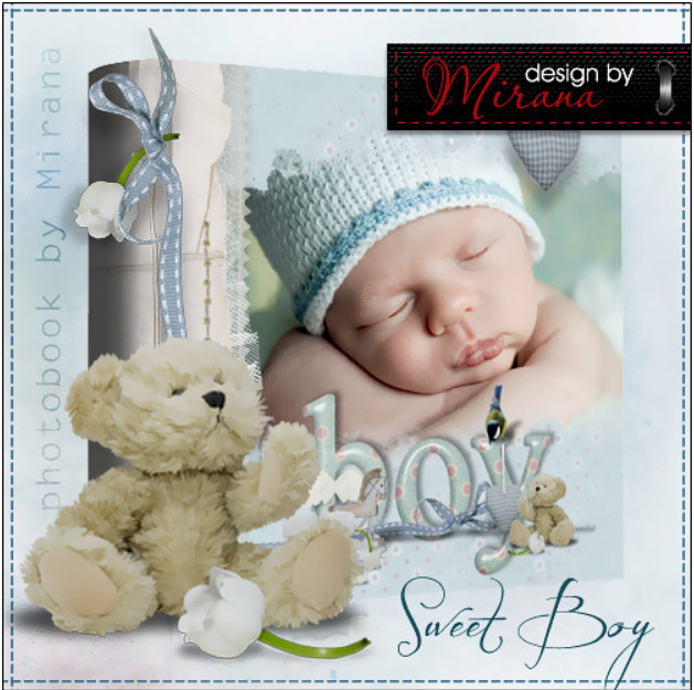 Photobook for a newborn in Photoshop – Sweet Boy