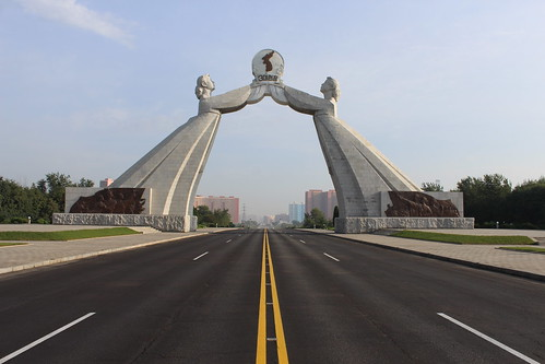 Unification gate, Pyongyang | by Timon91