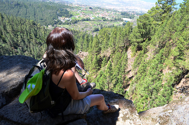 View from a rock, spring, Orotava, Tenerife
